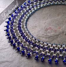 Bead Weaving Patterns Simple Super Duo Vertical Netting Stitch Collar Necklace Tutorial Bead