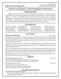 Job Description Real Estate Manager Or Hotel General Manager Resume