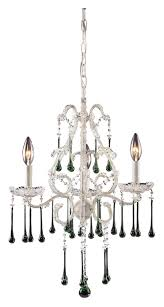 elk 4001 3lm once 3 candle antique white small lime crystal chandelier lighting loading zoom