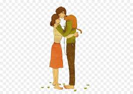 Love Drawing Couple Illustration Cartoon Hugs Couple Png Download