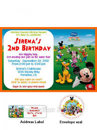 Mickey Mouse Clubhouse 2nd Birthday Invitations Mickey Mouse Clubhouse Invitations W Address Labels And Seals Set
