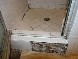 black mold mud set shower pan