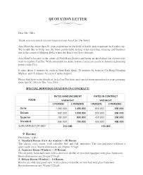 Quotation Letter Sample In Doc Unique Quotation Price Template Doc Quote Format Gocreatorco