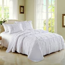 CHAUSUB Quality White Quilt Set 3PCS Coverlet Cotton Quilts ... & CHAUSUB Quality White Quilt Set 3PCS Coverlet Cotton Quilts Patchwork  Bedspread Embroidery Bed Cover Blanket Shams Adamdwight.com