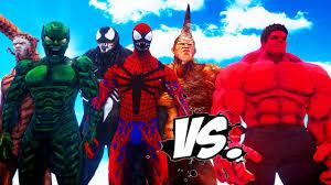 Hulk Spiderman Vs Red Venom Enemies Green Goblin Carnage 7qwdROxd