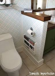 Wall Magazine Holder Bathroom 41 BuiltIn Magazine Rack Bath ideas Master bathrooms and Room 1