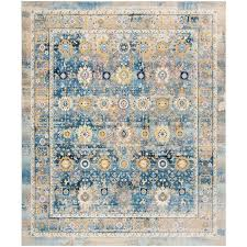 safavieh claremont chystie blue gold indoor distressed area rug common 8 x 10