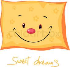 cute pillow clipart. cute pillow sweet dreams - vector illustration clipart