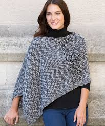 Knit Poncho Pattern Impressive Free Pattern Friday Knit Poncho Pattern From Red Heart Stitch