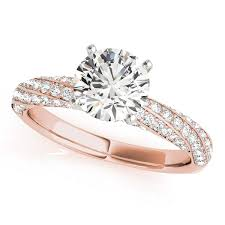 Engagement Rings Elegant Designs 1 Ct Elegant Design Diamond Engagement Ring 14k Rose Gold