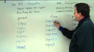 Latin 3rd Conjugation Chart 3rd Conjugation Io And Fourth Conjugation In Present Future And Perfect Active