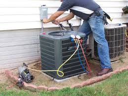 central air conditioner prices. contractor working outside on an hvac unit with central air conditioner prices cost calculator.