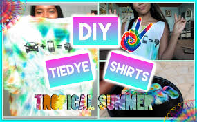 how to make a tie dye shirt out of food coloring