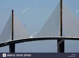 Sunshine Skyway Bridge Tampa Bay Florida Usa Stock Photo