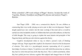 write a detailed word critique of piaget theories include  document image preview