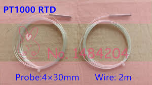 2 wire rtd reviews online shopping 2 wire rtd reviews on 2x pt1000 probe 4mm 30mm rtd probe 2m wire platinum resistance sensor 2 meter 2 pieces two wires thermocouple tubes