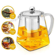 raypard teapot 500ml glass tea pot with infuser by microwavable and stovetop safe tea strainer for