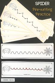 Spider Pre Writing Practice Printables For Pre K And