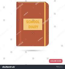 School Diary Design School Diary Color Flat Icon Web Stock Vector Royalty Free