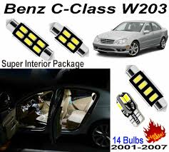 We all know the new c class has brand new interior now. 14pcs Hid White Led Interior Light Kit For Mercedes Benz C Class W203 Error Free