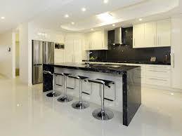 ... Fantastic Images Of Simple Kitchen Bar Design For Kitchen Design And  Decoration : Cozy Modern Black ...
