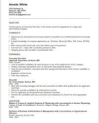 Recruiter Resume Template Amazing Executive Recruiter Resume Template Httpjobresumesample48