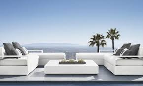 marbella furniture collection. This Generously Scaled White-on-white Collection For Restoration Hardware Called Marbella Aluminum Commands Furniture L
