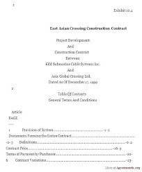 Construction Contract Template East Building Agreement Forms Simple