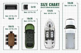 car sizes chart garage size chart storage sizes safe and secure self garage door