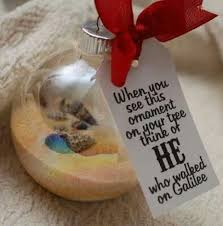 When you see this ornament on your tree think of HE who walked on Galilee |  Christmas | Pinterest | Christmas decor, Ornament and Sunday school