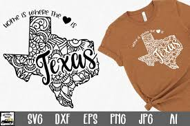 So pull out those cricuts and silhouettes and craft up an easy project! Texas Mandala Svg File Home Is Where The Heart Is Svg 781143 Svgs Design Bundles