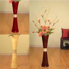 ... Wood Red And Beige Color Combination Interopr Design Flower Storage Cheap  Floor Vase High Quality Ceramic ...