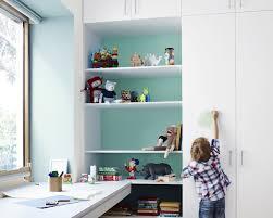 kids room blue interior