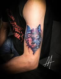 волк тату на предплечье у парня добавлено алёна миронова