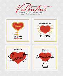 Free Greeting Card Printables 4 Free Valentine Greeting Card Templates Dribbble Graphics