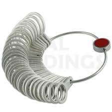 Details About Metal Finger Gauge Ring Sizer 1 15 Uk European France German Conversion Chart