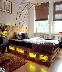Bed With Lights Most Brilliant Pallet Bed Frame With Lights Underneath