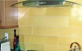 yellow glass tile subway backsplash dining kitchen subway backsplash kitchen