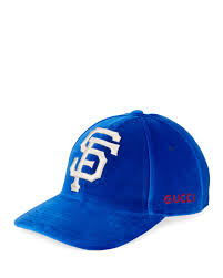 guccisan francisco giants mlb patch velvet baseball hat