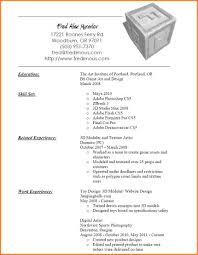 4 3d Artist Resume Example Resume Cover Note