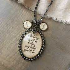 Kole Jax Designs Customer Service As Long As Im Living My Baby Youll Be Pendant Necklace With Optional Initial Charms