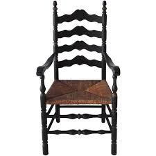 19th century original black painted ladder back chair from antique black ladder back chairs