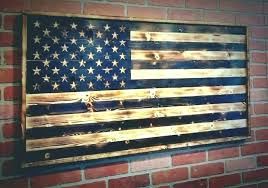 wood flag wall decor art arts large wooden american usa main