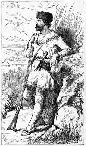 ダニエルブーン 探検家 先駆者 ライフル銃 歴史 1700年代 レトロ
