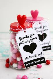 thanks for putting you heart into teaching teacher gift idea for valentine s day