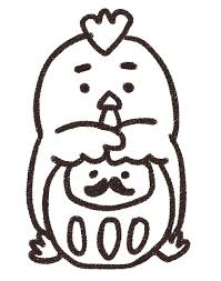 ダルマを抱えたニワトリのイラスト酉年 ゆるかわいい無料イラスト素材集