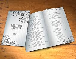 Wedding Program Designs Wedding Program Template Psd 2 Sides Graphicfy