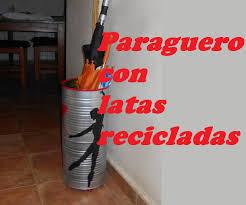LATAS RECICLADAS EN PARAGUERO Cans Recycled In Umbrella Stand Como Hacer Un Paraguero Original