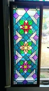 hanging glass art large custom framed faux stained window panel panels s image 0 stained glass window