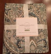 pottery barn mackenna paisley duvet full queen new arrivals w 1 of 3 pottery barn mackenna paisley duvet
